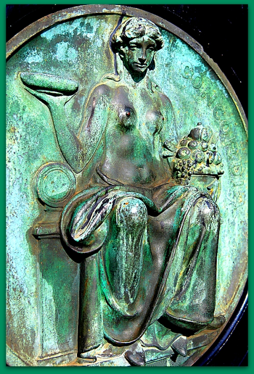the figure Concordia, goddess of agreement, understanding and ma