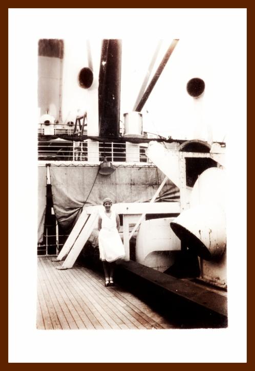 Aboard an Ocean Liner Ship, 1920