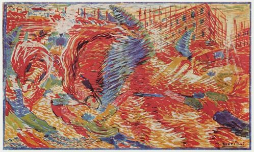 UmbertoBoccioni The City Rises